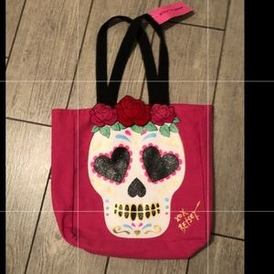 Betsey Johnson sugar skull tote bag